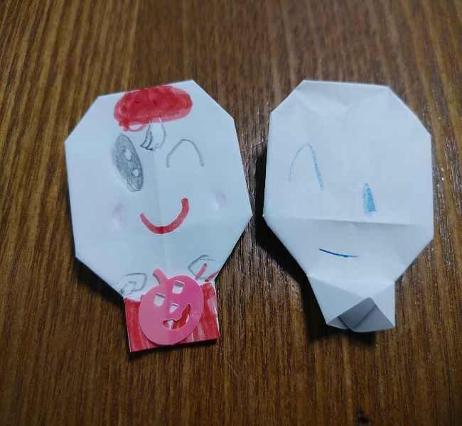アンパンマン「ホラーマン」の折り紙は簡単♪3歳児5歳児と手作りしたよ!