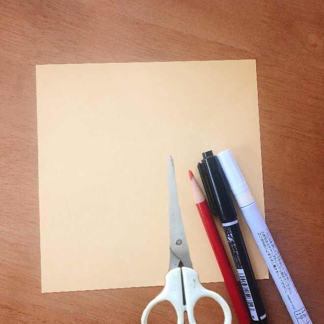 クリームパンダの折り紙☆必要なもの