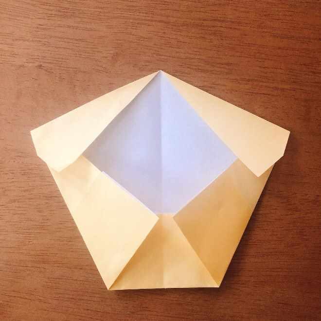 クリームパンダの折り紙 簡単な作り方折り方 (6)