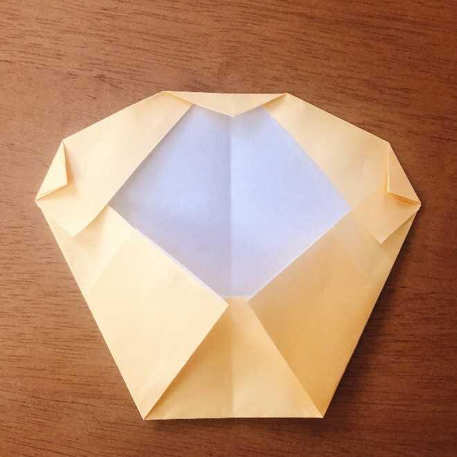 クリームパンダの折り紙 簡単な作り方折り方 (7)