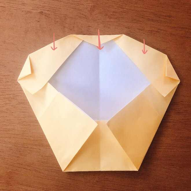 クリームパンダの折り紙 簡単な作り方折り方 (8)