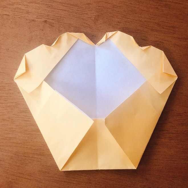 クリームパンダの折り紙 簡単な作り方折り方 (9)