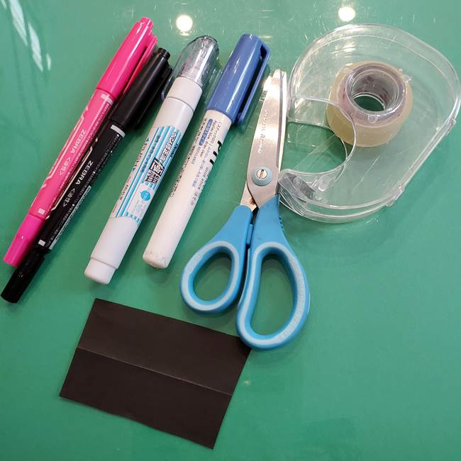 クロミちゃんの折り紙の折り方は簡単♪用意するもの2