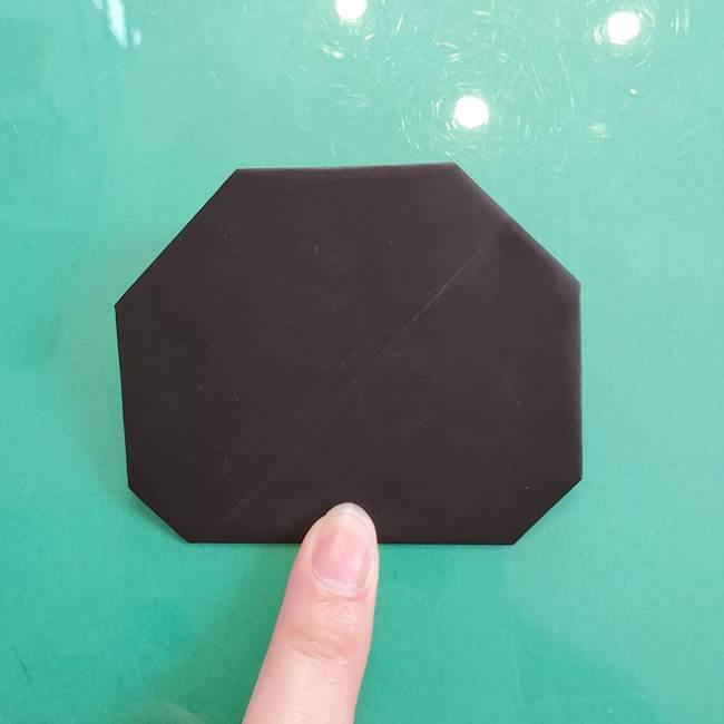 クロミちゃんの折り紙 折り方作り方①顔1(10)