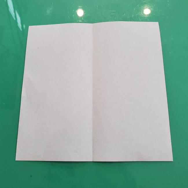 クロミちゃんの折り紙 折り方作り方①顔1(3)