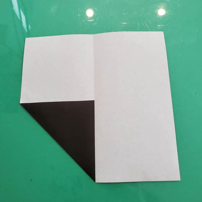 クロミちゃんの折り紙 折り方作り方①顔1(4)