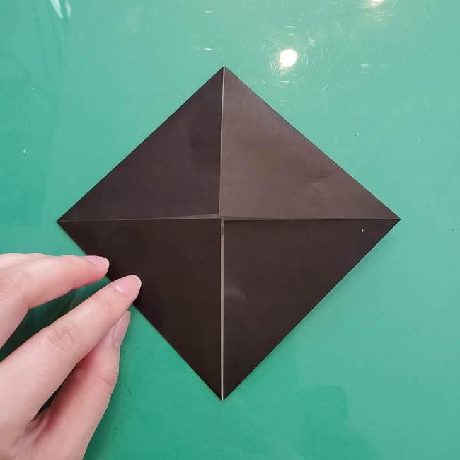 クロミちゃんの折り紙 折り方作り方①顔1(5)