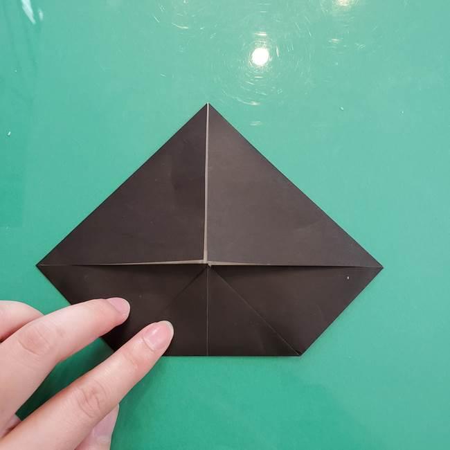 クロミちゃんの折り紙 折り方作り方①顔1(6)
