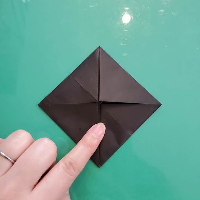 クロミちゃんの折り紙 折り方作り方①顔1(7)