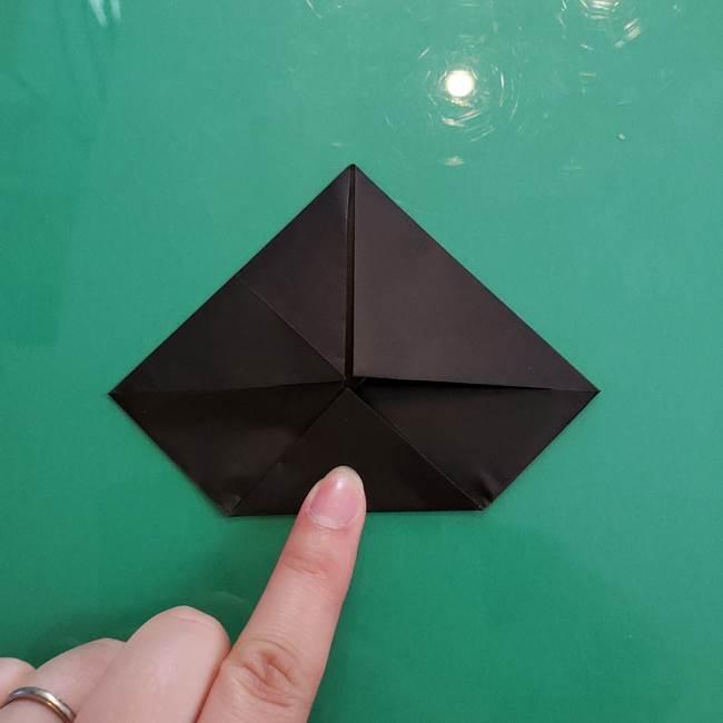 クロミちゃんの折り紙 折り方作り方①顔1(8)