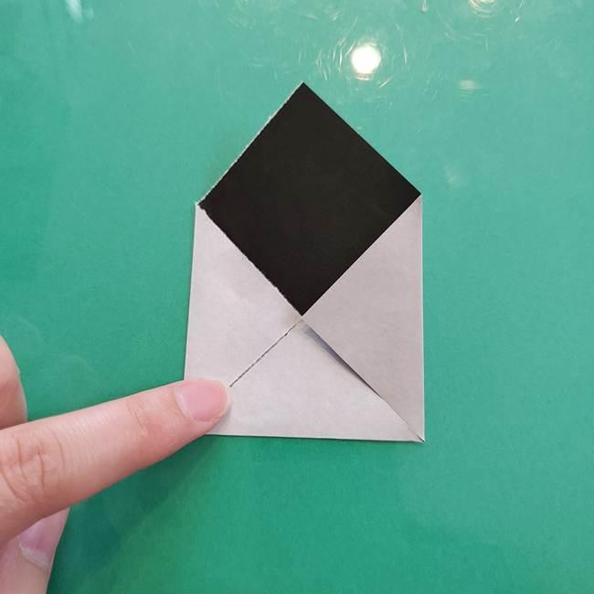 クロミちゃんの折り紙 折り方作り方②顔2(11)