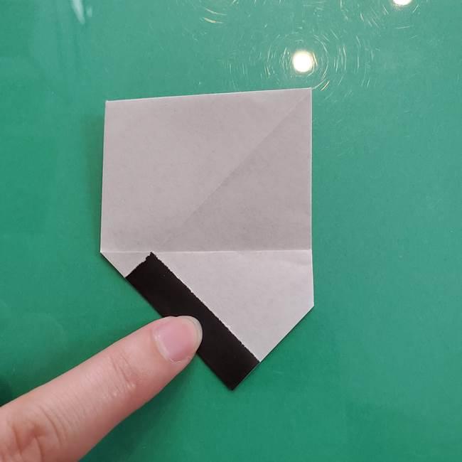 クロミちゃんの折り紙 折り方作り方②顔2(15)