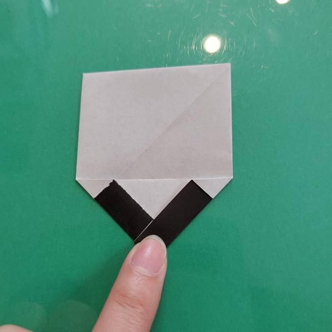 クロミちゃんの折り紙 折り方作り方②顔2(16)