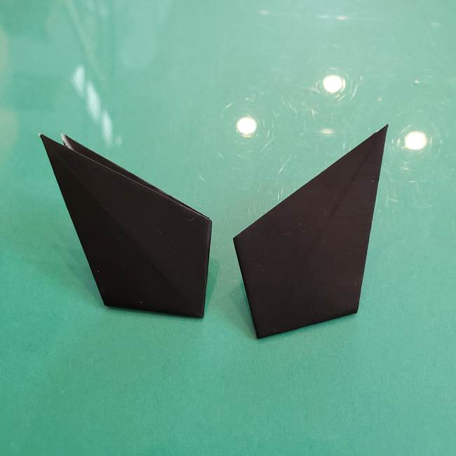 クロミちゃんの折り紙 折り方作り方③耳(11)