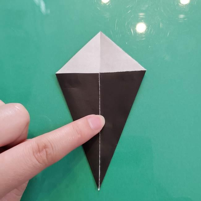 クロミちゃんの折り紙 折り方作り方③耳(4)