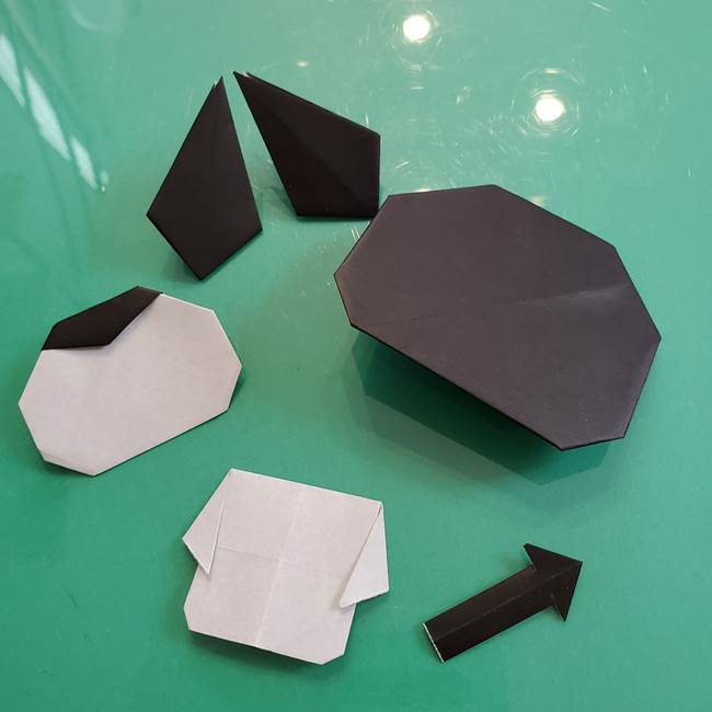 クロミちゃんの折り紙 折り方作り方⑤しっぽ(10)