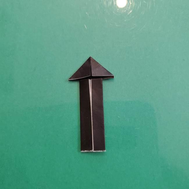 クロミちゃんの折り紙 折り方作り方⑤しっぽ(8)
