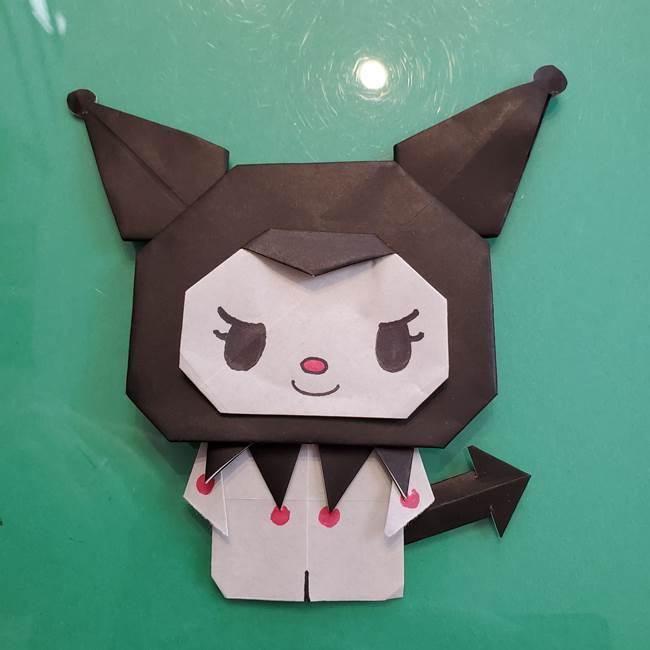 クロミちゃんの折り紙 折り方作り方⑥完成(20)