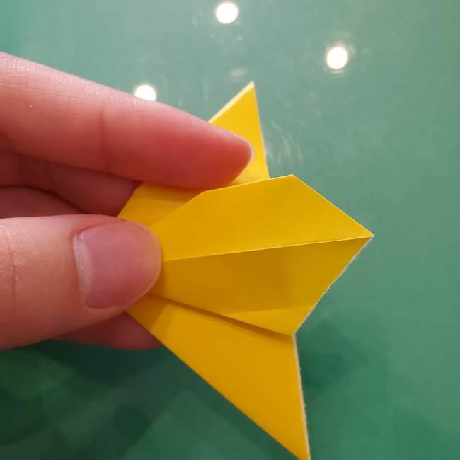 コスモス①8枚の折り紙パーツをつくる(11)