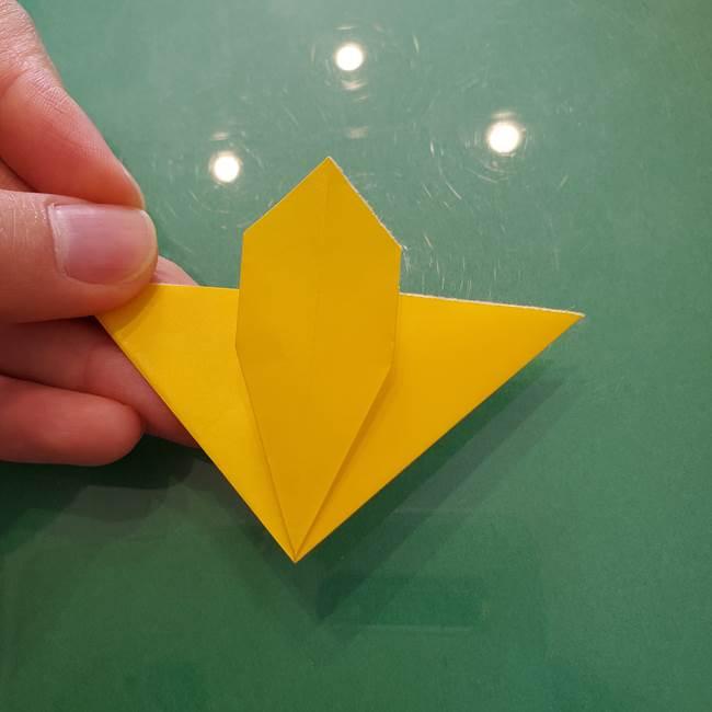 コスモス①8枚の折り紙パーツをつくる(12)