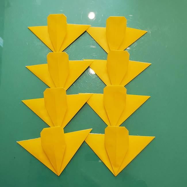 コスモス①8枚の折り紙パーツをつくる(16)