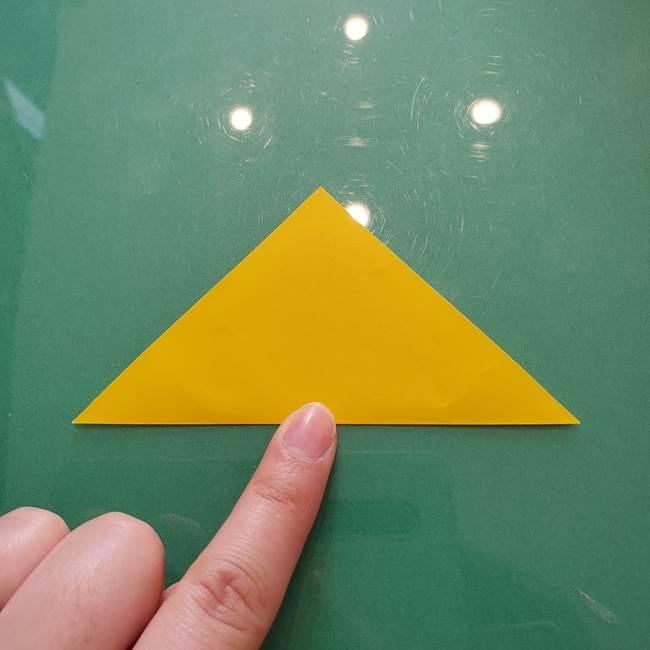 コスモス①8枚の折り紙パーツをつくる(2)