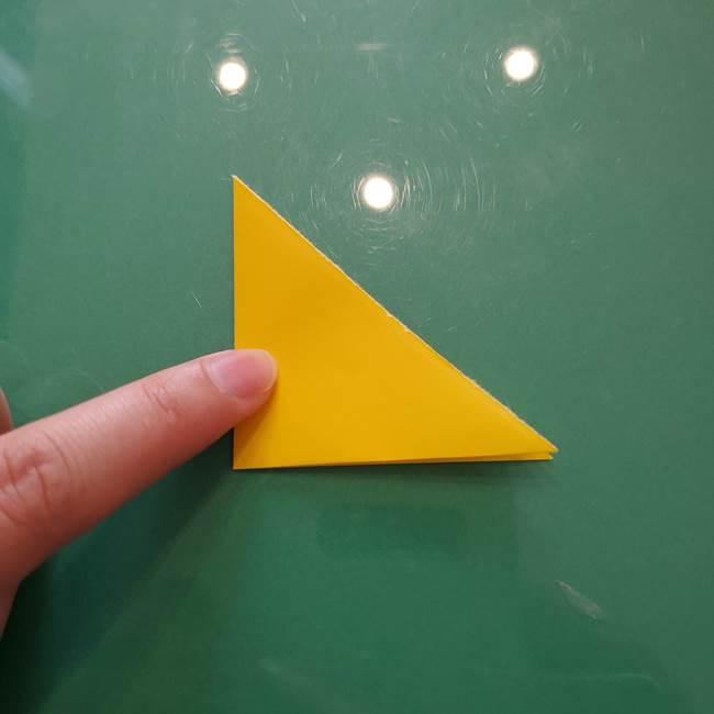 コスモス①8枚の折り紙パーツをつくる(3)
