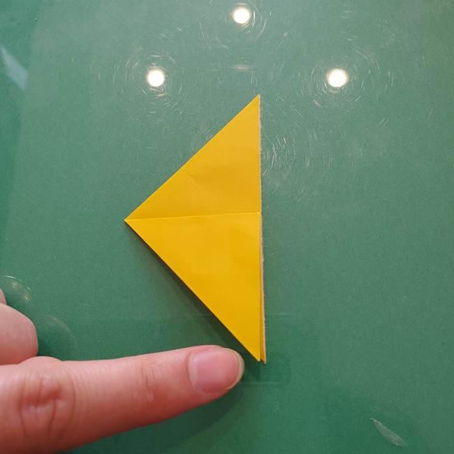 コスモス①8枚の折り紙パーツをつくる(5)