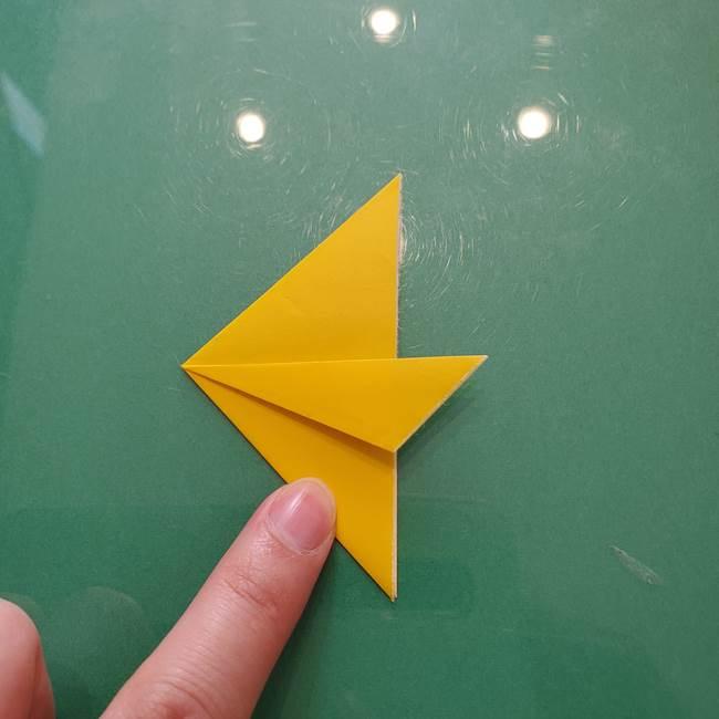 コスモス①8枚の折り紙パーツをつくる(6)