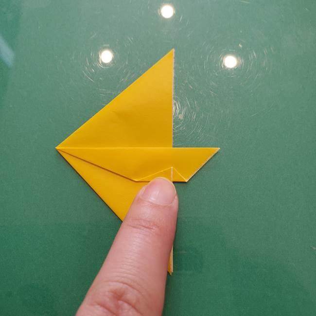 コスモス①8枚の折り紙パーツをつくる(7)