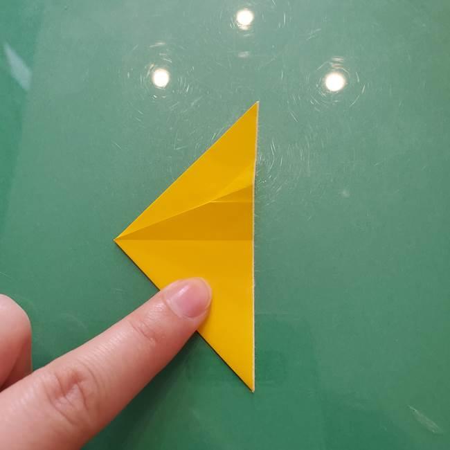 コスモス①8枚の折り紙パーツをつくる(8)