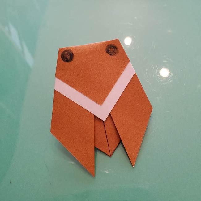 セミの折り紙製作|3歳からOKな折り方作り方(10)
