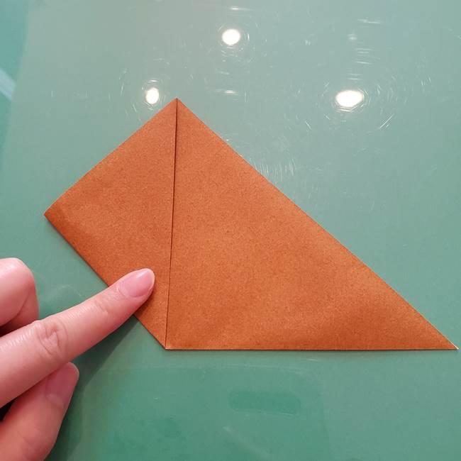 セミの折り紙製作|3歳からOKな折り方作り方(3)