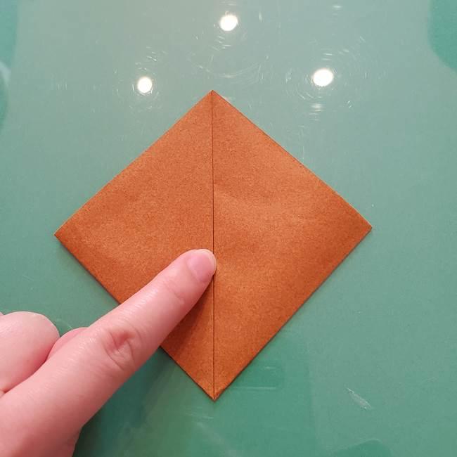 セミの折り紙製作|3歳からOKな折り方作り方(4)