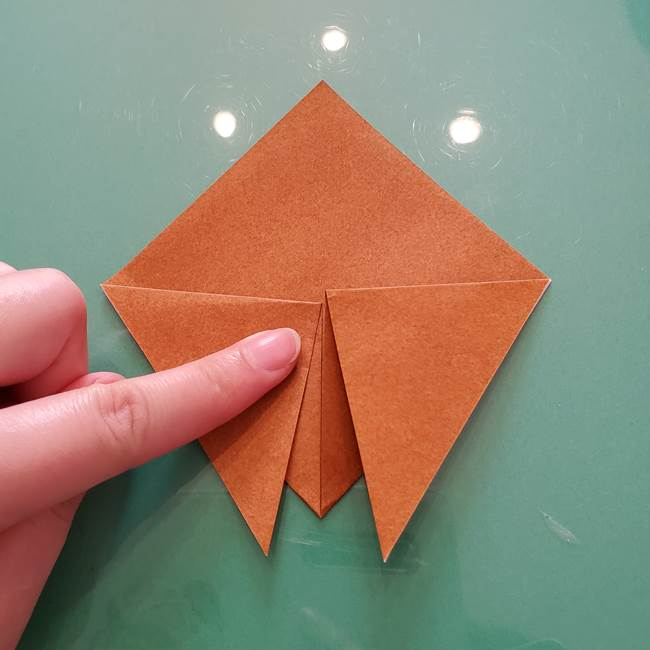 セミの折り紙製作|3歳からOKな折り方作り方(5)