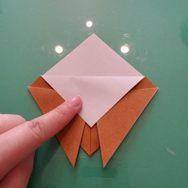 セミの折り紙製作|3歳からOKな折り方作り方(6)