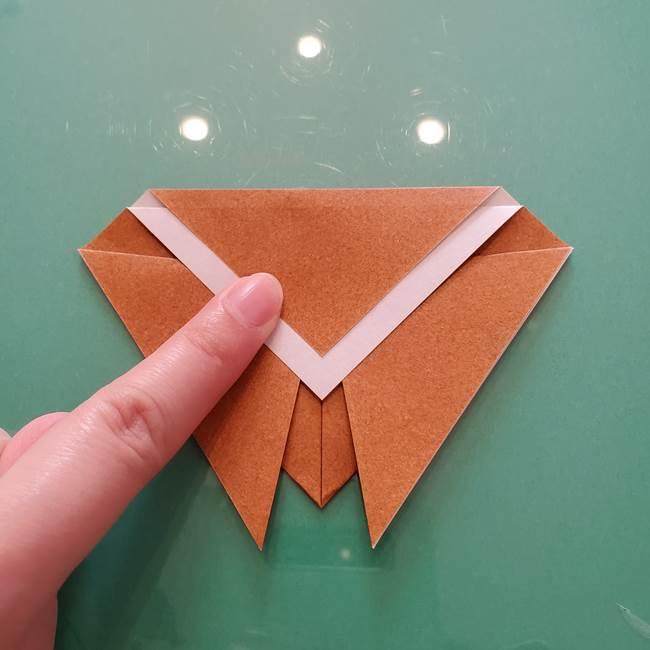セミの折り紙製作|3歳からOKな折り方作り方(7)