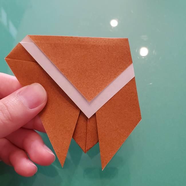 セミの折り紙製作|3歳からOKな折り方作り方(8)