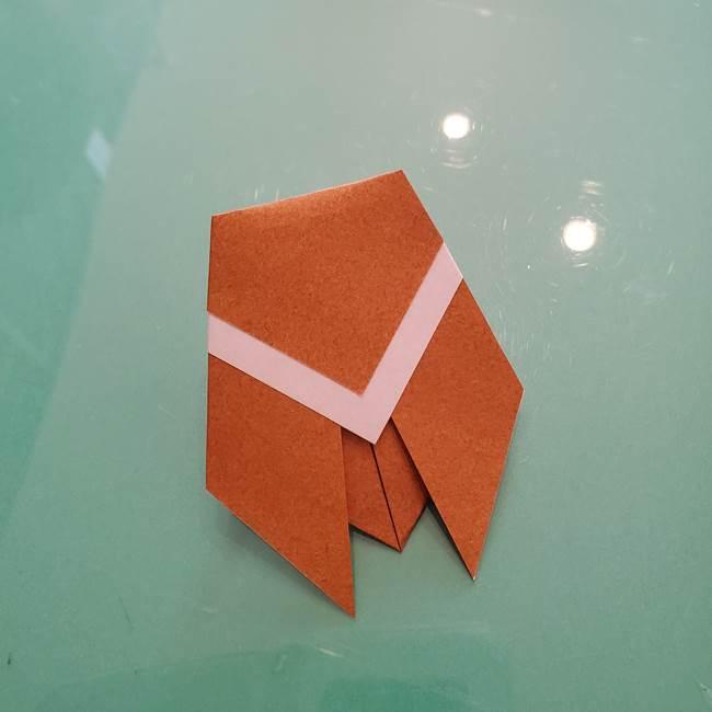 セミの折り紙製作|3歳からOKな折り方作り方(9)
