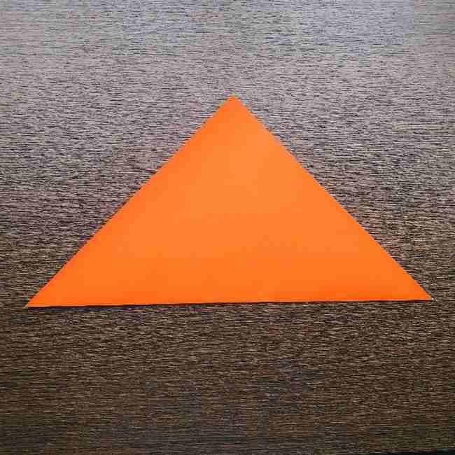 ドキンちゃんの折り紙(顔)折り方作り方 (1)