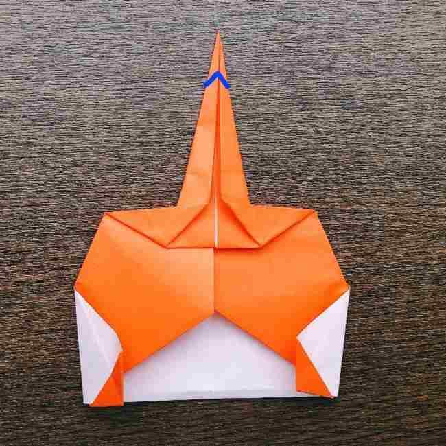 ドキンちゃんの折り紙(顔) 折り方作り方 (14)