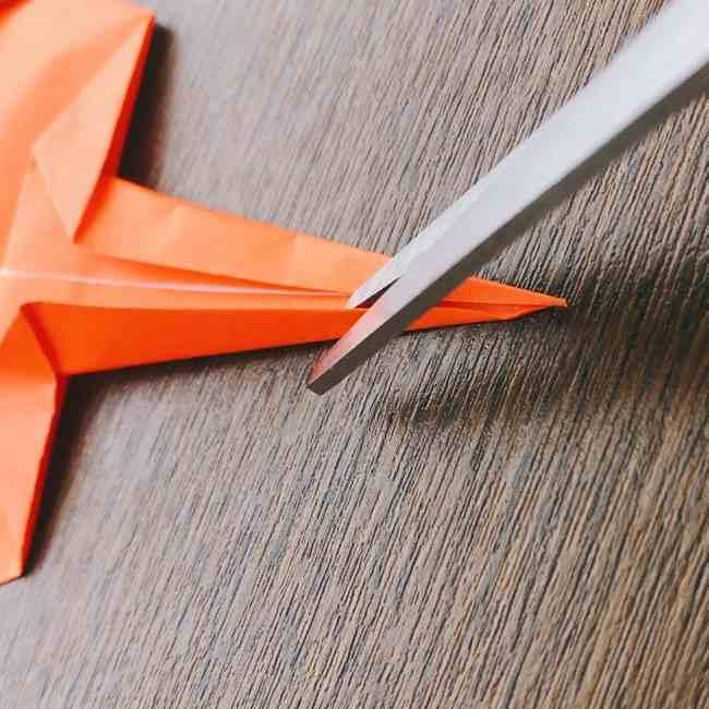ドキンちゃんの折り紙(顔) 折り方作り方 (15)