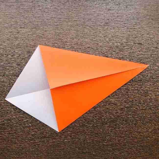 ドキンちゃんの折り紙(顔) 折り方作り方 (2)