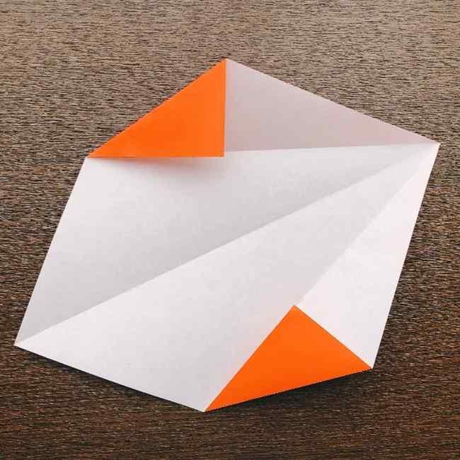 ドキンちゃんの折り紙(顔) 折り方作り方 (3)