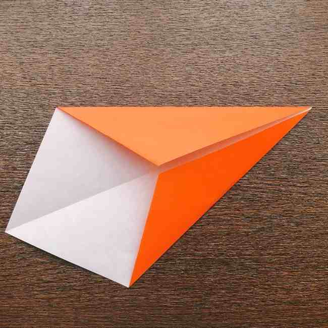 ドキンちゃんの折り紙(顔) 折り方作り方 (4)