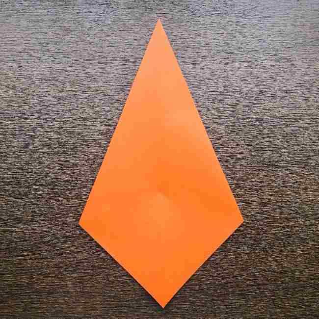 ドキンちゃんの折り紙(顔) 折り方作り方 (5)