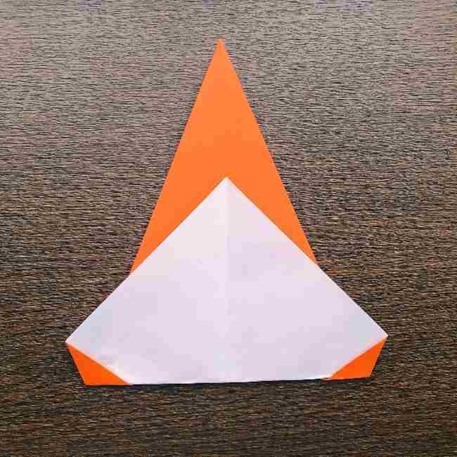 ドキンちゃんの折り紙(顔) 折り方作り方 (6)