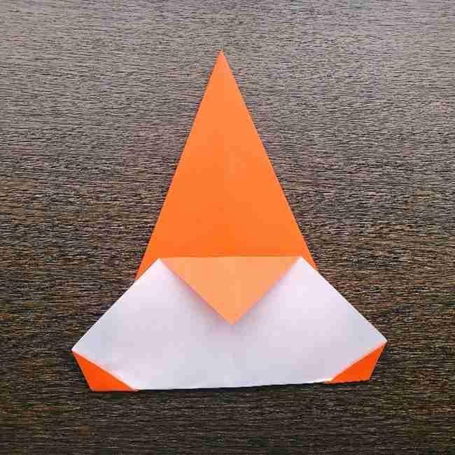 ドキンちゃんの折り紙(顔) 折り方作り方 (7)