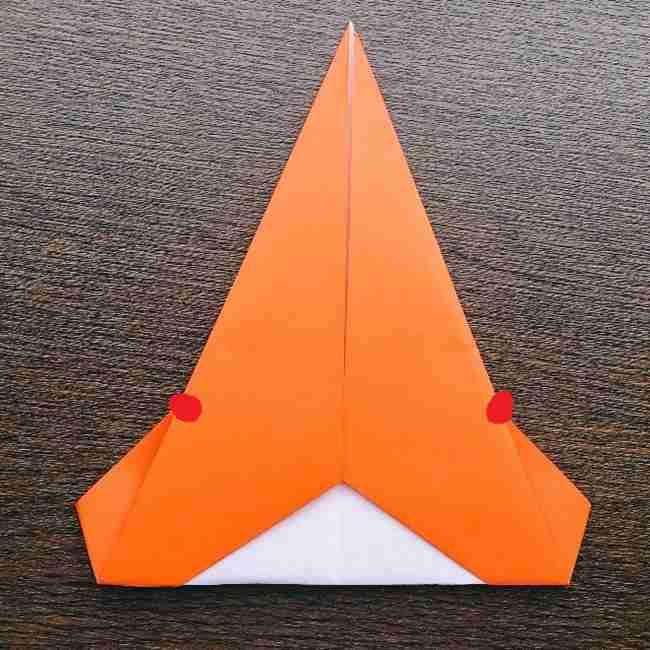 ドキンちゃんの折り紙(顔) 折り方作り方 (8)