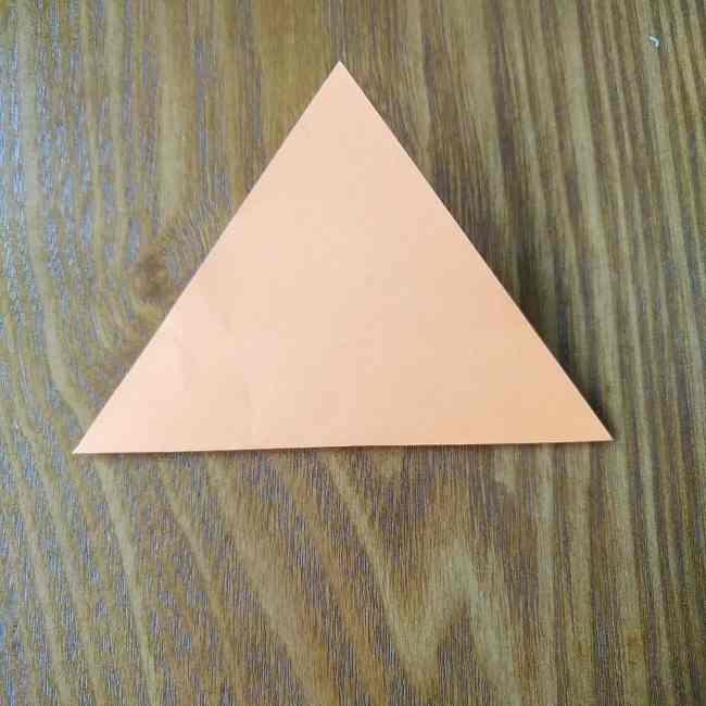 ハロウィン仕様のホラーマンの折り紙☆帽子の折り方 (1)